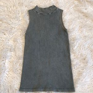 NWT free people mock neck ribbed tank